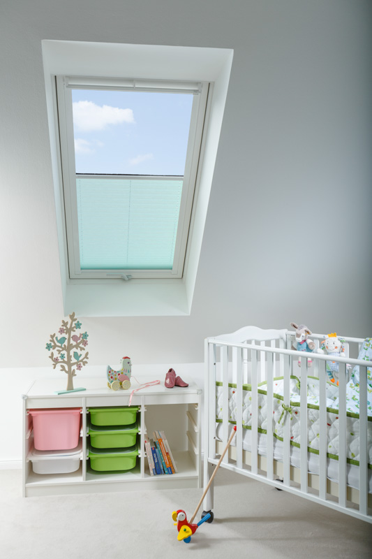 Blöcker Cosiflor Plissee grün Dachfenster