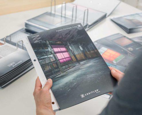 Blöcker Cosiflor Plissee Wabenplissee Katalog Ringbuch Verkauf Vertrieb Lost Location