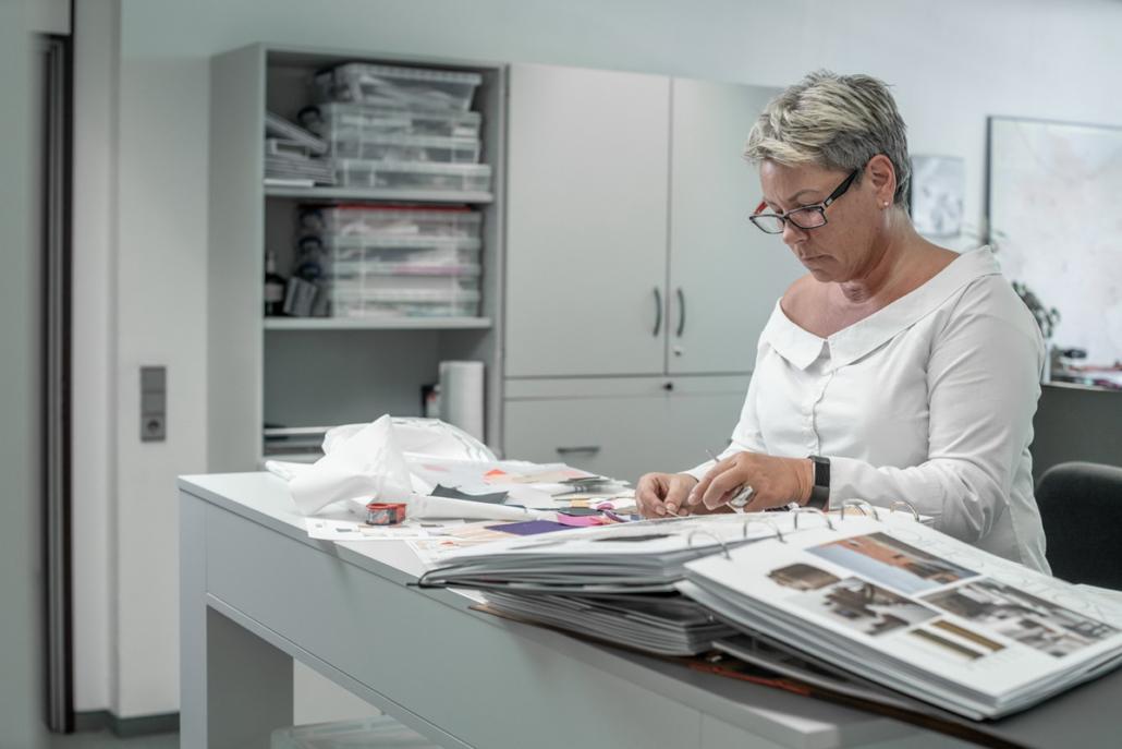 Kolletion Neu Plissee Cosiflor Farben Bunt Marketing Werbung Stoff Fabrics